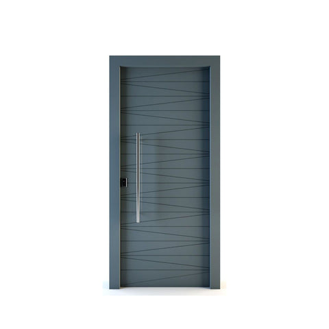 WDMA Modern Apartment European Style MDF Interior Wooden Door Design
