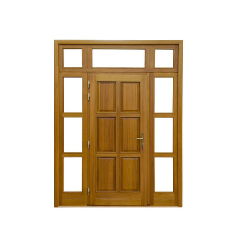 WDMA Modern Artificial Small Round Top Tropical Beech Teak Ornament And Alder Solid Wood Double Lattice Door Models For Apartment And