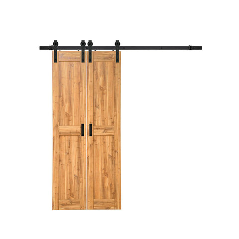 WDMA Modern Design Interior Marriott Hote Solid Knotty Pine Wood Sliding Barn Door For Sale