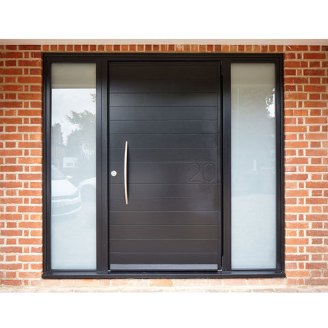 WDMA Modern Exterior Aluminium Flat Pivot Entrance Entry Door Luxury House Aluminum Pivot Front Door