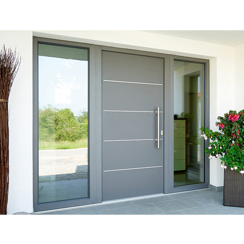 China WDMA Aluminum Pivot Front Door