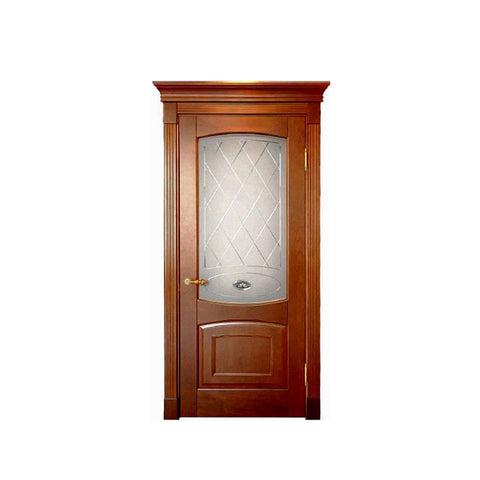 China WDMA modern wood carving door design Wooden doors
