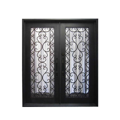 China WDMA antique wrought iron garden gate Steel Door Wrought Iron Door
