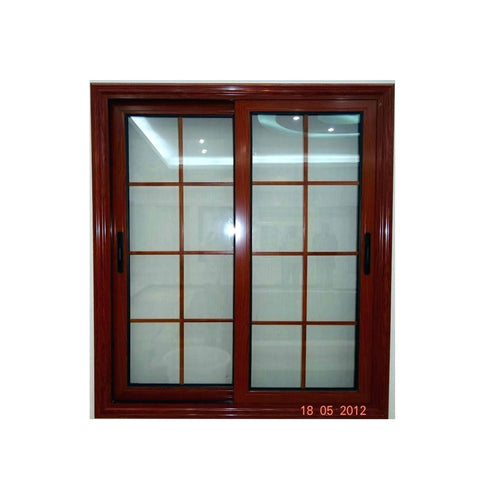 China WDMA aluminium sliding window with iron grill Aluminum Sliding Window