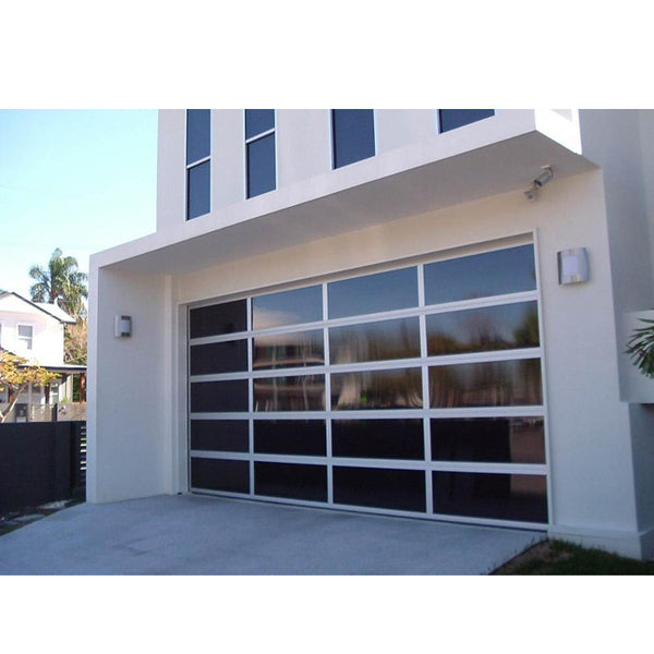 WDMA Modern Sectional Garage Doors For Sale Remote Control Frosted Glass Garage Door
