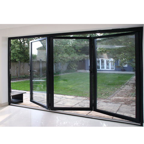 WDMA Nafs 2011 American Standard Aluminum Glass Door folding Door System With Accordion Fly Screen