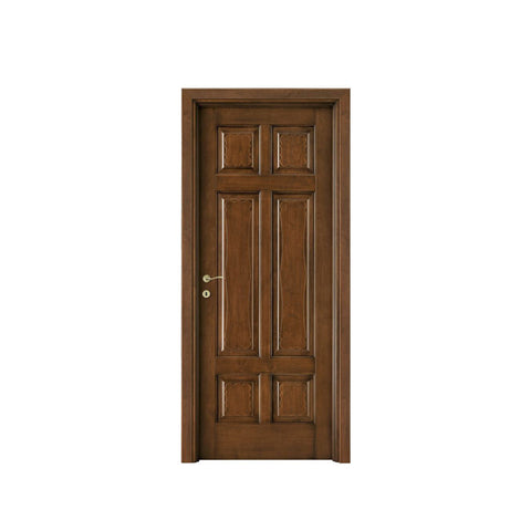 China WDMA flat teak wood main door designs Wooden doors