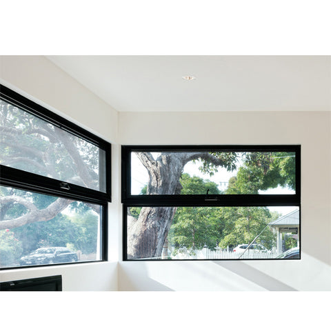 WDMA New Products Australia Design Most Popular Type Chain Winder Awning Window With Fixed Louver On Top