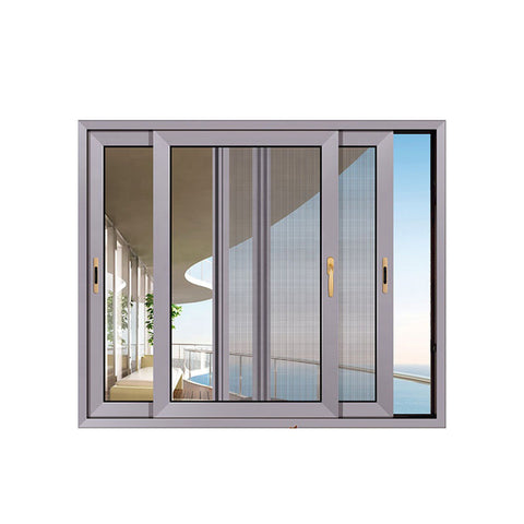 China WDMA Top quality aluminum arched top windows with fly screen Aluminum Sliding Window