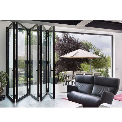 WDMA Oem White Smart Slimline Aluminium Bifold Doors Commercial Use