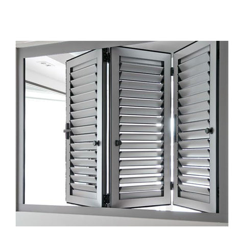 WDMA Outdoor Fireproof Brown Aluminium Window And Door Louver Shutter System