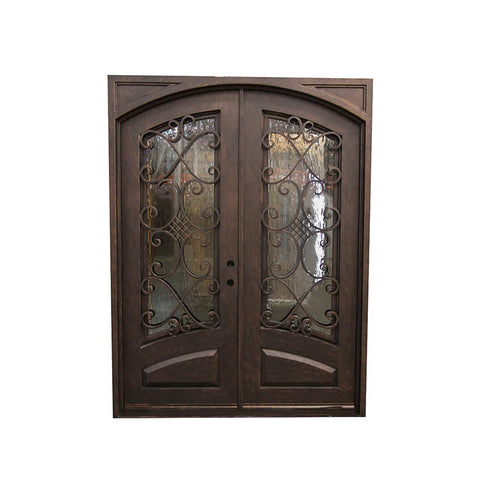 China WDMA wrought iron door outdoor Steel Door Wrought Iron Door