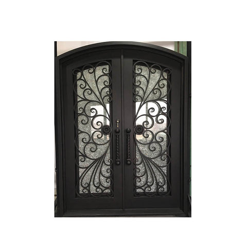 China WDMA double door iron gate Steel Door Wrought Iron Door