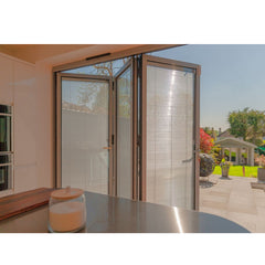 China WDMA Glass Bi Folding Door