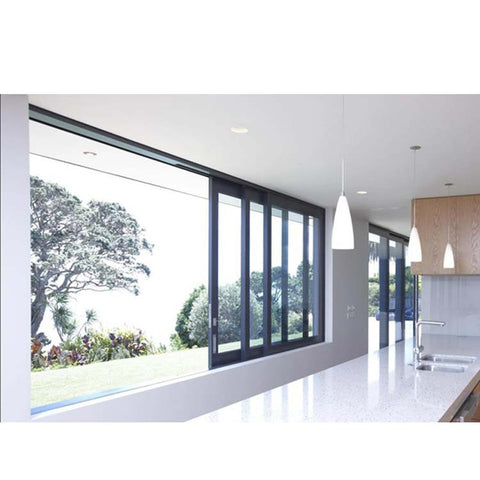 WDMA Powder Coated Aluminum Sliding Glass Window With 4 Panels In The Philippines