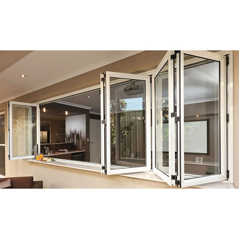 WDMA Prefabricated Bifold Window Aluminum Profile Windows And Doors
