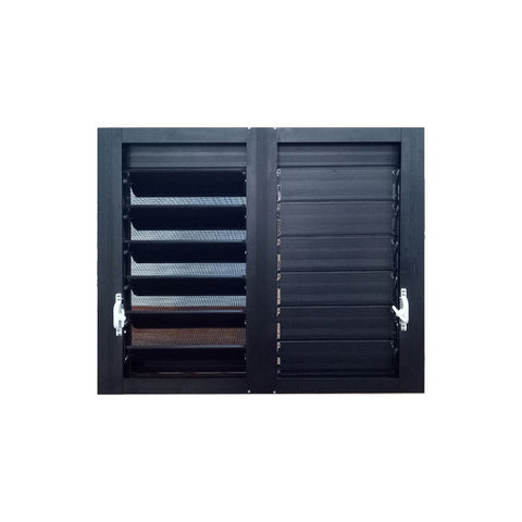 WDMA Price Champagne Colour House Aluminium Louvre Blade Frame Window Shutter