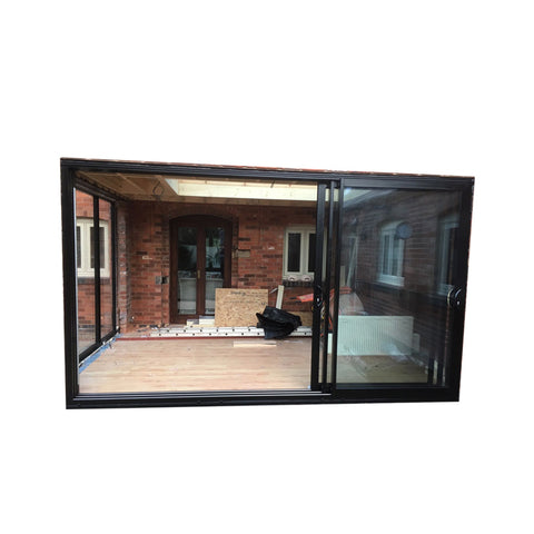 WDMA Ready Made Latest Modern Decorative Water Proof Exterior Commercial Aluminium Sliding Bathroom Glass Door
