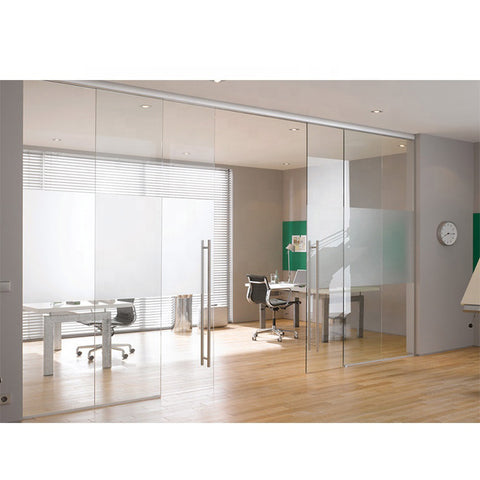 WDMA Retail Aluminum Folding Frameless Glass Sliding Door