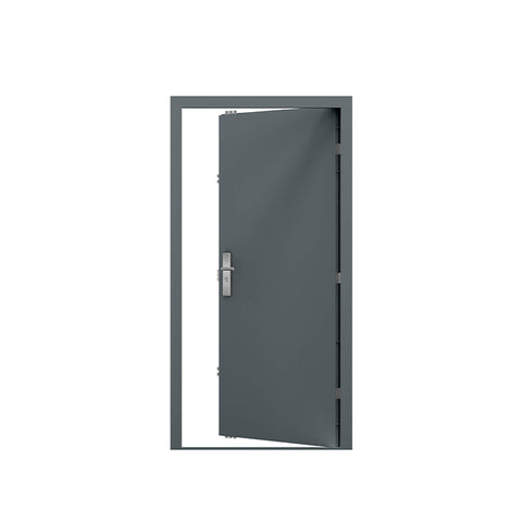 WDMA Security Doors Modern Exterior Front Entrance Doors Double Steel Entry Doors