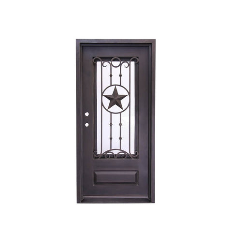 WDMA Security Front House Sliding Door Forged Iron Interior Windows Door Grill Design Manufacturers For Villa