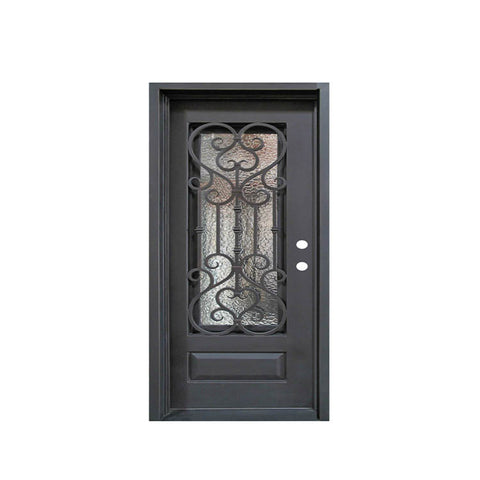 China WDMA sliding door iron grill design Steel Door Wrought Iron Door
