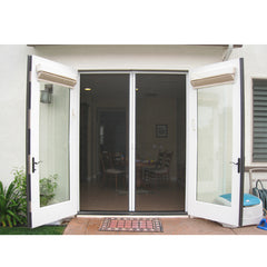 China WDMA Shandong Aluminum Hinged Patio Doors Glass Swing Door Modern French Casement Doors Entry Doors