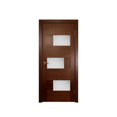 WDMA Simple Interior White Modern Plain Solid Teak Wood Wooden Bedroom Door Design Price