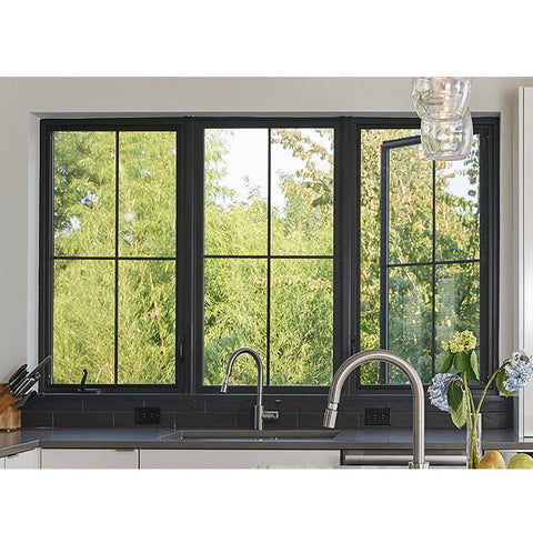 WDMA Slimline Aluminum Frame Casement Window With Grill Design