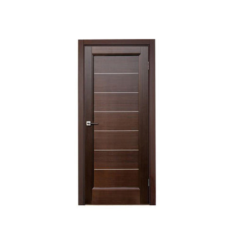 WDMA Solid Wooden Single Main Swing Door Design