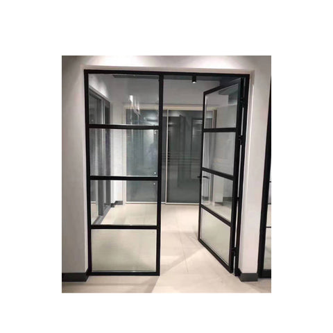 WDMA Soundproof And Unbreakable Aluminum Sandwich Panel Door Glass Classroom Window And Door Dubai For Exterior