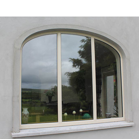 China WDMA half circle window Aluminum Fixed Window