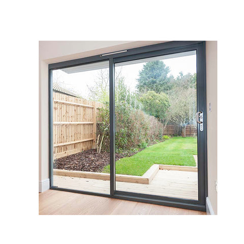 WDMA Unique Design Powder Coated Aluminum Air Tight Plexiglass Single Panel Sliding Door