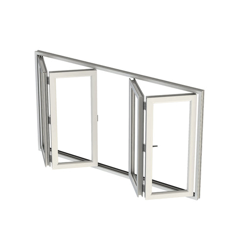 WDMA United States American Style Aluminum Home Corner Transom Folding Window Style Sliding Soundproof