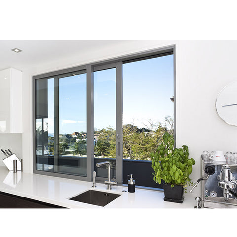 WDMA Villa Kitchen Sliding Window Aluminium Double Leaf Window