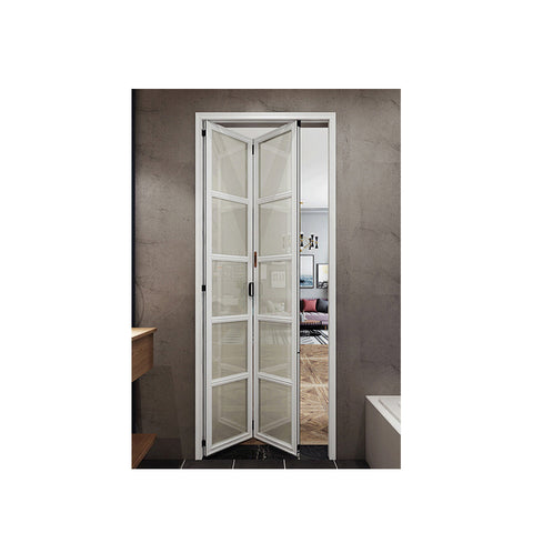 WDMA White Aluminium Accordion Folding Slide Sliding Door For Bathroom Price
