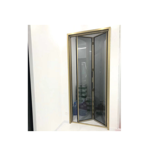 China WDMA folding slide door bathroom Aluminum Folding Doors