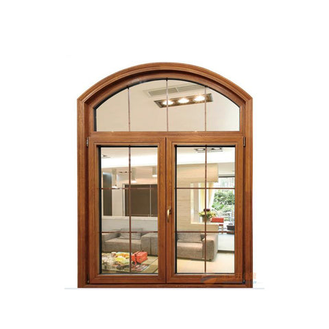 WDMA Wholesale Glass Door Window Aluminium Clad Wooden Hinged Windows Factory
