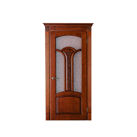 China WDMA wood door with glass Wooden doors