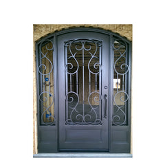 China WDMA wrought iron entry door