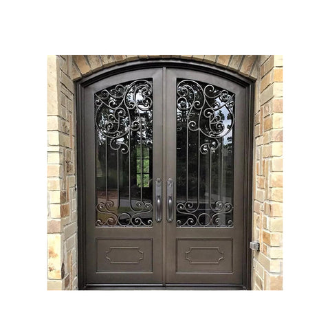 China WDMA wrought iron entry door Steel Door Wrought Iron Door