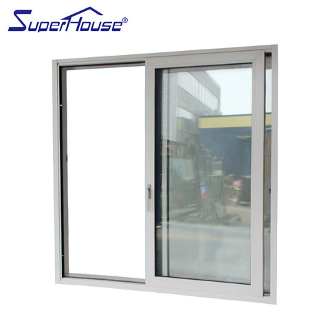 weather proof double glass standard size upvc sliding windows with America csa nfrc dade standard on China WDMA