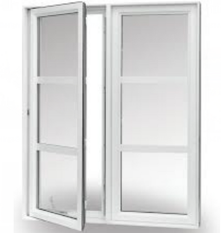 white vinyl outswing casement windows america style pvc/upvc window for sale on China WDMA