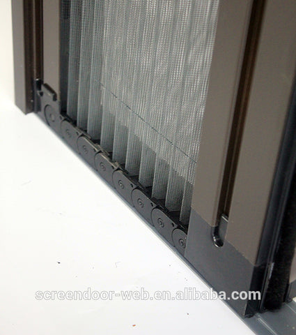 wholesale aluminum retractable mesh plisse insect screen door on China WDMA