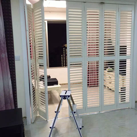 wholesale cheap china blind pvc window plantation shutters uk for patio door on China WDMA