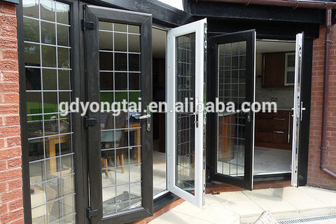 wholesales alibaba black color upvc/pvc french door on China WDMA