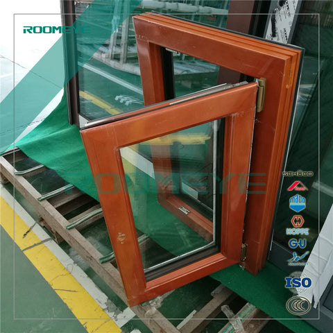 wood clad aluminium tilt & turn windows wooden latest window on China WDMA