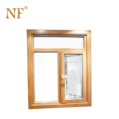 wood color veka aluminum casement window on China WDMA