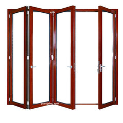 wood grain aluminum folding glass door film on China WDMA