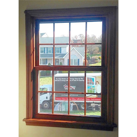 wood grain single hung window custom double hung windows from China on China WDMA